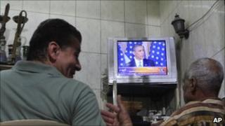 Watching Obama's speech in a Cairo cafe
