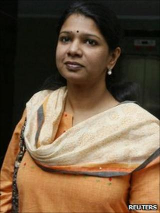 MP Kanimozhi leaves for court from her home in Delhi on 20 May 2011
