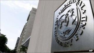 The International Monetary Fund headquarters building in Washington