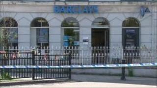 The Barclays branch in Machynlleth