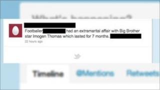 A redacted tweet