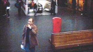 Suspect Anxiang Du at Northampton Bus Station on the day of the murder