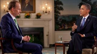 Andrew Marr and Barack Obama