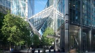Broadgate office development in London