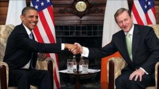 President Obama made the remarks after meeting with Taoiseach Enda Kenny