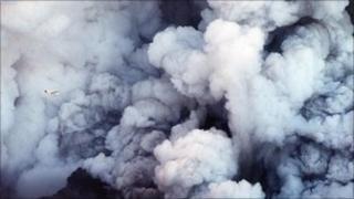 The ash cloud