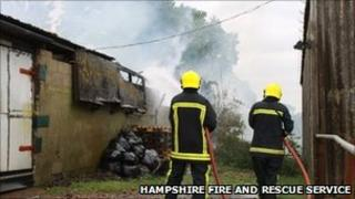 Fire crews tackle blaze on 23 May