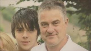 Martin Thompson and his son Edward