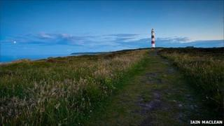 Path to a lighthouse. Pic: Copyright of Iain Maclean