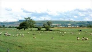 Image of proposed wind farm at East Heslerton. Copyright: RWE Npower renewables