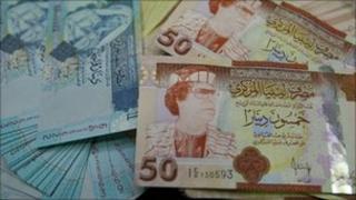 Libyan banknotes