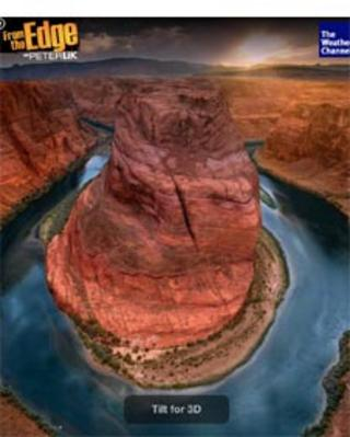 Grand Canyon as it appears in the ad