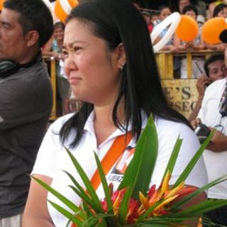 Keiko Fujimori on the campaign trail in Peru's northern jungle town of Yurimaguas