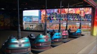 Bumper cars on Blackpool's Central pier