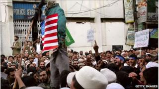 ANti-US demonstration in Peshawar - January 2011