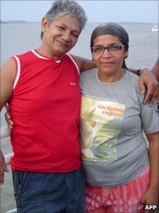 Joao Claudio Ribeiro da Silva and Maria do Espirito Santo in a file photo from earlier this year