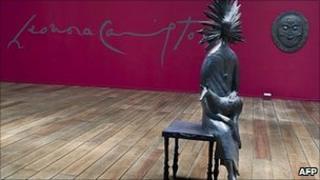 Leonora Carrington's Dama y Zorro (Lady and Fox) at the Estacion Indianilla museum in Mexico City