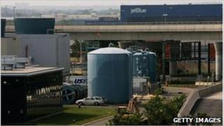 Fuel tanks at JFK airport