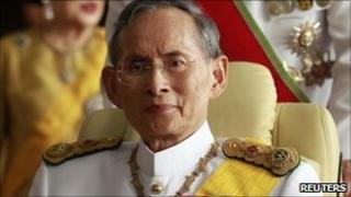 Thailand's King Bhumibol Adulyadej (file photo)