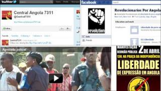 Screengrabs from Angolan activist websites