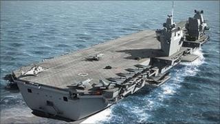 New Royal Navy aircraft carrier