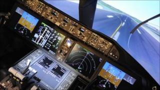 Simulator for the Boeing 787 Dreamliner