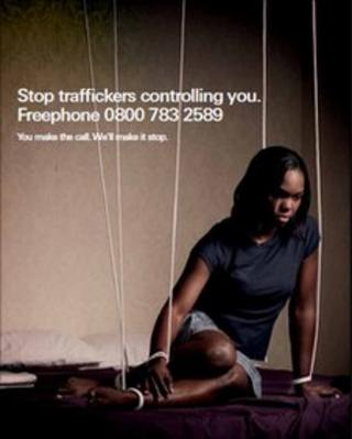 The trafficking helpline poster