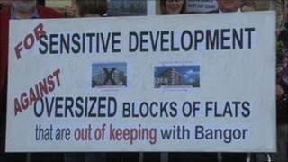 bangor development protest