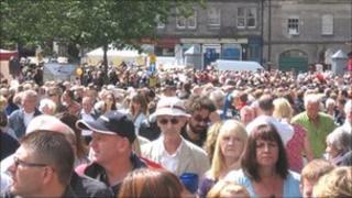 Edinburgh Jazz and Blues Festival crowd