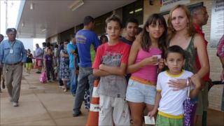 Rosineide Lima da Silva and her family in Brasilia live on 250 reais a month