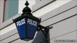 Isle of Man police sign