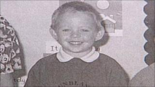 Ryan Liddell in his P1 class photo, taken before the Dunblane massacre took place
