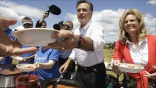 Mitt Romney with wife Ann