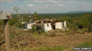 A tornado hit home in Arkansas