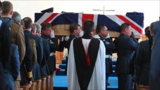Funeral of Air Cmdr Christopher Green