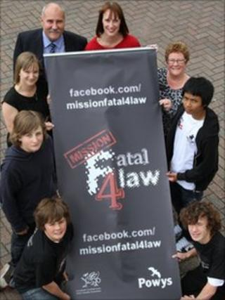 Young people and council officials launch the Mission: Fatal 4law campaign