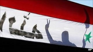 Syrian protester (file image)