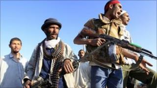 Rebel fighters near Misrata, 30 May