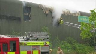 Haverhill recycling centre fire
