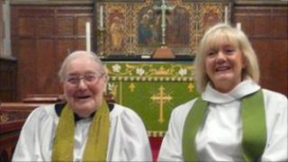Canon John Clayton and the Reverend Janice Smith