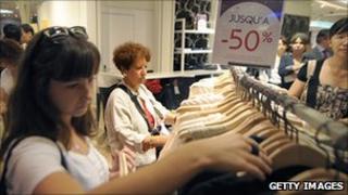 Shoppers in Paris