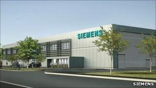 Artist's impression of new Siemens site