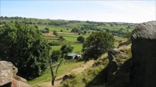 Garston Rocks in the Weaver Hills