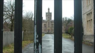 The former North Wales Hospital in Denbigh