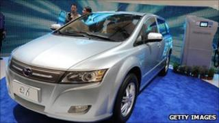 BYD car on display
