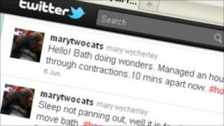 Mary Wycherley's Twitter page