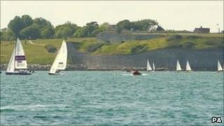 Sailing boats in Weymouth