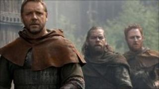 Russell Crowe stars as Robin Hood (2011 file picture)