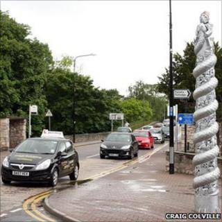 HM Stanley's 'totem pole' is unveiled