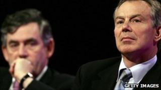 Gordon Brown and Tony Blair